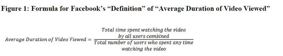 average duration metric definition from Facebook video advertising metrics lawsuit