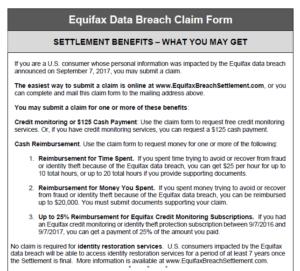 Equifax data breach claim form