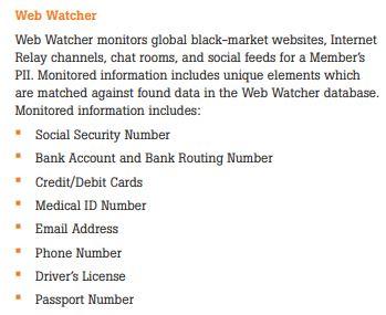 Kroll's Web Watcher service provided after Marriott Starwood data breach
