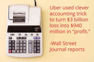 calculator for Uber IPO accounting trick