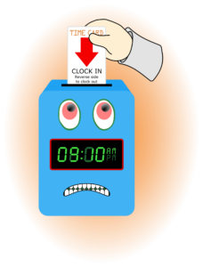 late timecard punchout for off-the-clock work