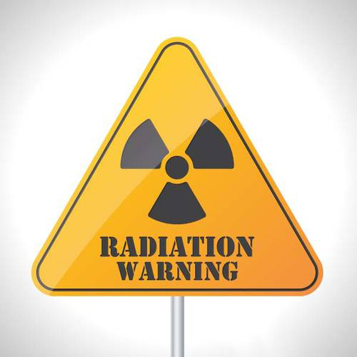 radiation warning sign from hunters point lawsuit